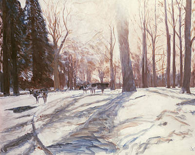 Fed Painting - Snow At Broadlands by Paul Stewart
