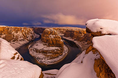 Photograph - Snow At Horseshoe Bend by Dustin  LeFevre