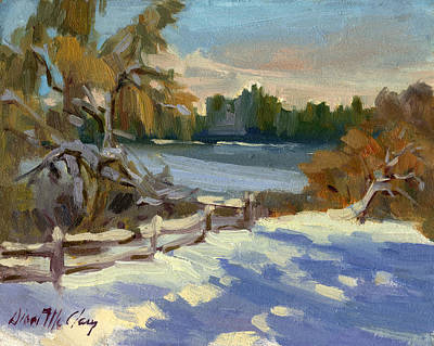 Painting - Snow At Martha Lake by Diane McClary