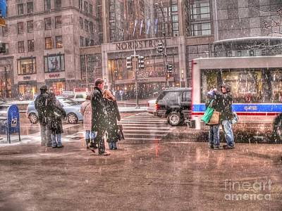 Nordstroms Photograph - Snow At Nordies by David Bearden