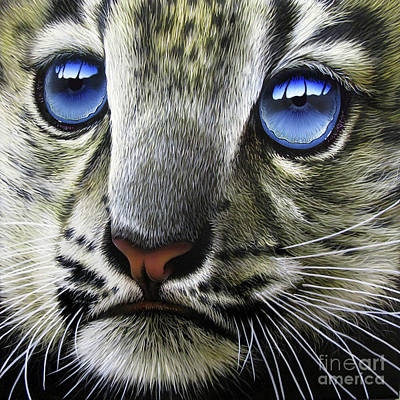 Wild Cat Painting - Snow Baby by Jurek Zamoyski