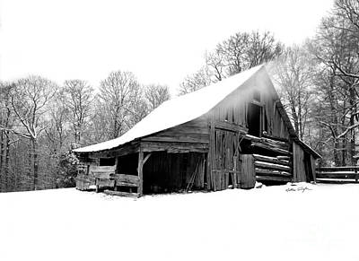 Photograph - Snow Barn 2006 by Matthew Turlington