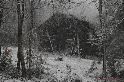Photograph - Snow Barn by Lawrence Scott