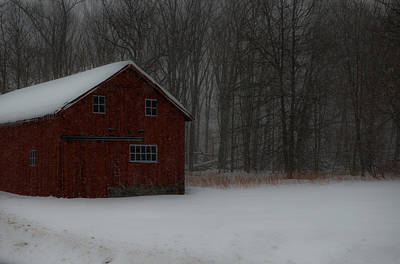 Wall Art - Photograph - Snow Barn by Scott Hafer