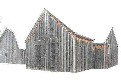 Art Print featuring the photograph Snow Barns by Christopher McKenzie