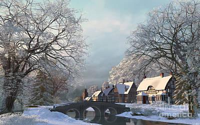 Rural Digital Art - Snow Best by Dominic Davison