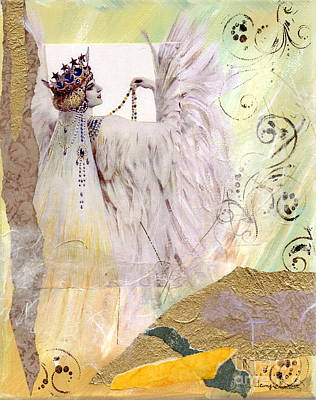 Painting - Snow Bird Queen by Tamyra Crossley