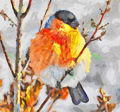 House Pet Digital Art - Snow Bird by Yury Malkov