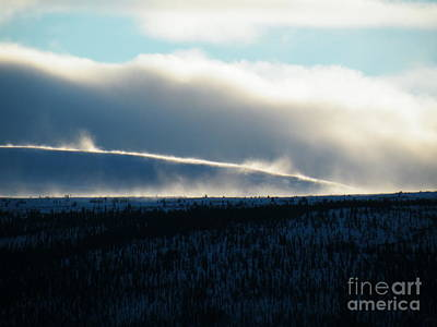 Yukon Territory Photograph - Snow Blower by Brian Boyle