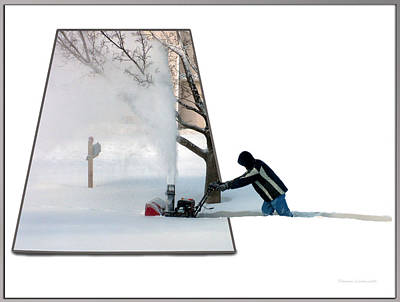 Snow Blower Art Print by Thomas Woolworth
