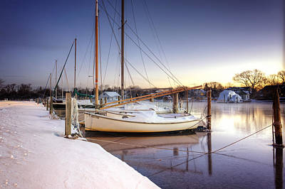 Snow Boats Art Print