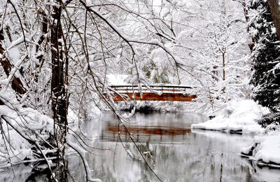 Photograph - Snow Bridge by Emily Stauring