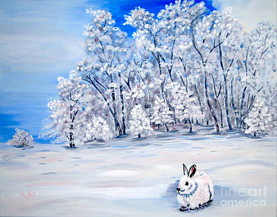 Painting - Snow Bunny by Phyllis Kaltenbach