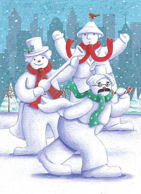 Snowman Photograph - Snow Business Marx Brothers by Peter Adderley