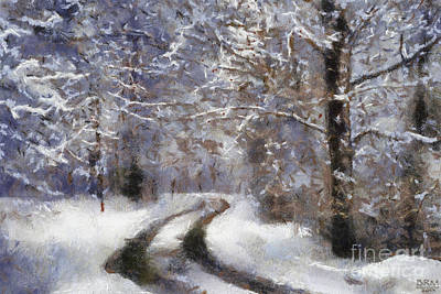 Snow Came Art Print by Barbara R MacPhail