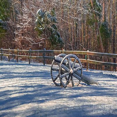 Photograph - Snow Cannon - Duvet Sized by Scott Hervieux
