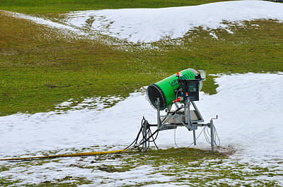 Photograph - Snow Cannon On Meadow With Little Snow by Matthias Hauser