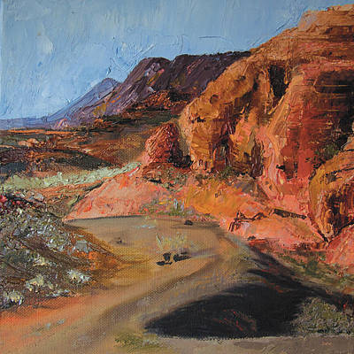 Painting - Snow Canyon by Jane Autry
