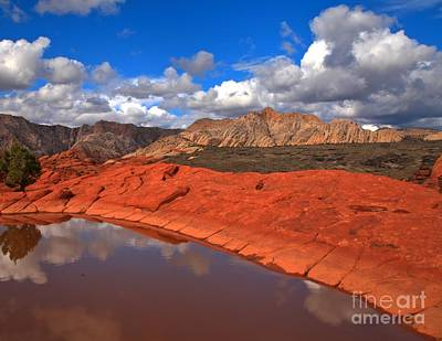 Photograph - Snow Canyon Reflections by Adam Jewell
