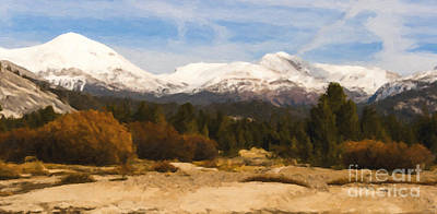 Snow Capped Painting - Snow Cap by David Millenheft