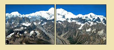 Painting - Snow Capped Canyon Panels by Bruce Nutting