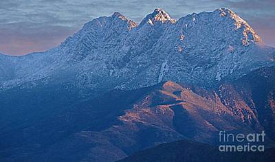 Photograph - Snow Capped Four Peaks by Mistys DesertSerenity
