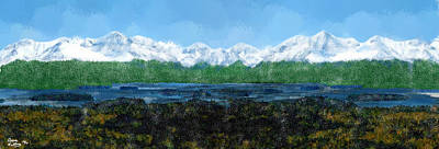 Wildwood Park Painting - Snow Capped Mountains by Bruce Nutting