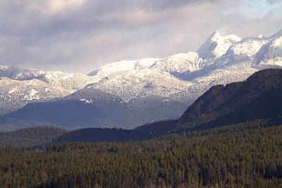 Photograph - Snow Capped Mountains by Peggy Collins