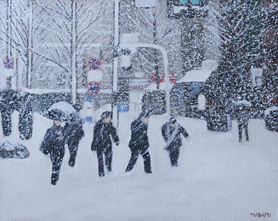 Painting - Snow City by Masami Iida