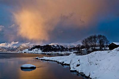 Canon Eos 5d Mark Iii Photograph - Snow Cloud On The Horizon by Frank Olsen
