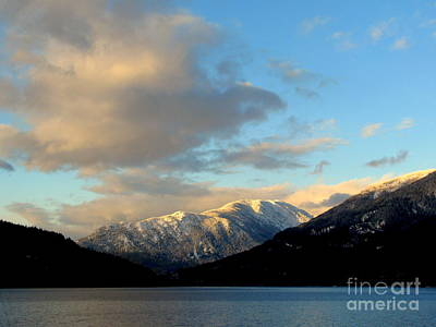 Photograph - Snow Clouds And Mountains by Leone Lund