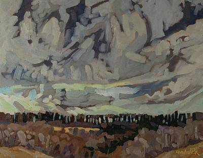 Snow Melt Painting - Snow Clouds by Phil Chadwick