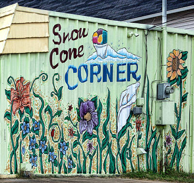 Snow Cone Corner Original by Linda Phelps