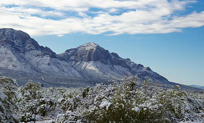 Achieving - Snow-Covered Catalina Mountains by Michael Moriarty