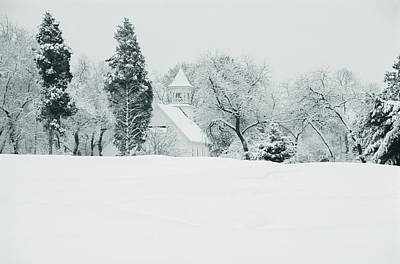 Snow Covered Golf Course, Congressional Art Print by Panoramic Images