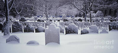 Photograph - Snow Covered Graves by Ron Sanford