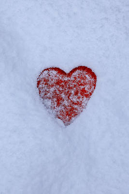 Snow-covered Heart Art Print