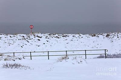 Winter Photograph - Snow-covered Landscape In Belgium by Vanessa Devolder