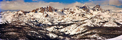 Mammoth Photograph - Snow Covered Landscape, Mammoth Lakes by Panoramic Images