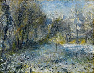 Snow-covered Landscape Art Print by Pierre-Auguste Renoir
