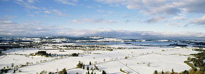 Neuschwanstein Castle Photograph - Snow Covered Landscape, View by Panoramic Images