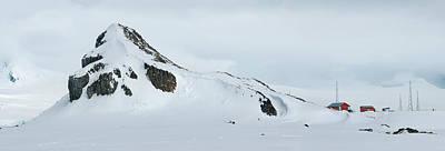 Snow Covered Mountain, Argentine Camara Art Print