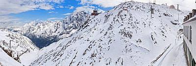 Snow Covered Mountain Range, Stelvio Art Print