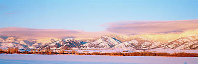 Gallatin Photograph - Snow Covered Mountains, Bridger by Panoramic Images