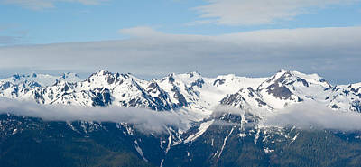 Hurricane Ridge Photograph - Snow Covered Mountains, Hurricane by Panoramic Images