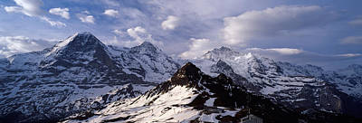 Grindelwald Photograph - Snow Covered Mountains, Mt Eiger, Mt by Panoramic Images