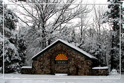 Photograph - Snow Covered Park Building by Rose Santuci-Sofranko