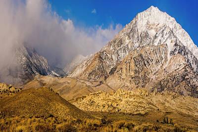 Bishops Peak Photograph - Snow Covered Peak by Tom Norring