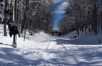 Photograph - Snow Covered Rail Road Tracks by Bill Tomsa
