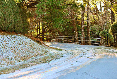Slick Digital Art - Snow Covered Road by Cynthia Guinn
